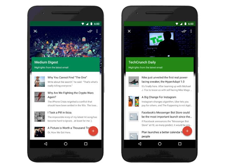 2 - Google Inbox теперь отслеживает события, рассылки и сохранённые ссылки