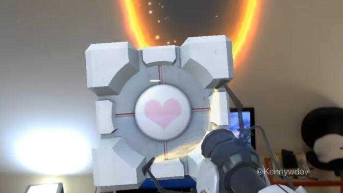 hololens portal 2 title - Теперь в Portal 2 можно играть и через Microsoft HoloLens