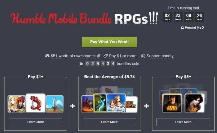 rpgs bundle - Humble Bundle Mobile RPGs для любителей РПГ на Android
