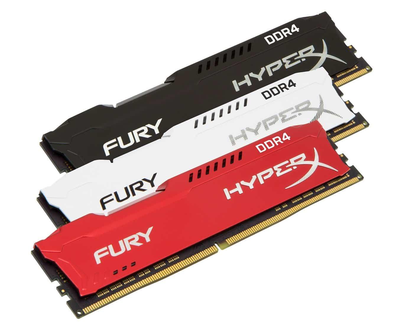 HyperX FURY DDR4 Family 1 - HyperX обновила линейку модулей ОЗУ FURY DDR4 с автоматическим разгоном