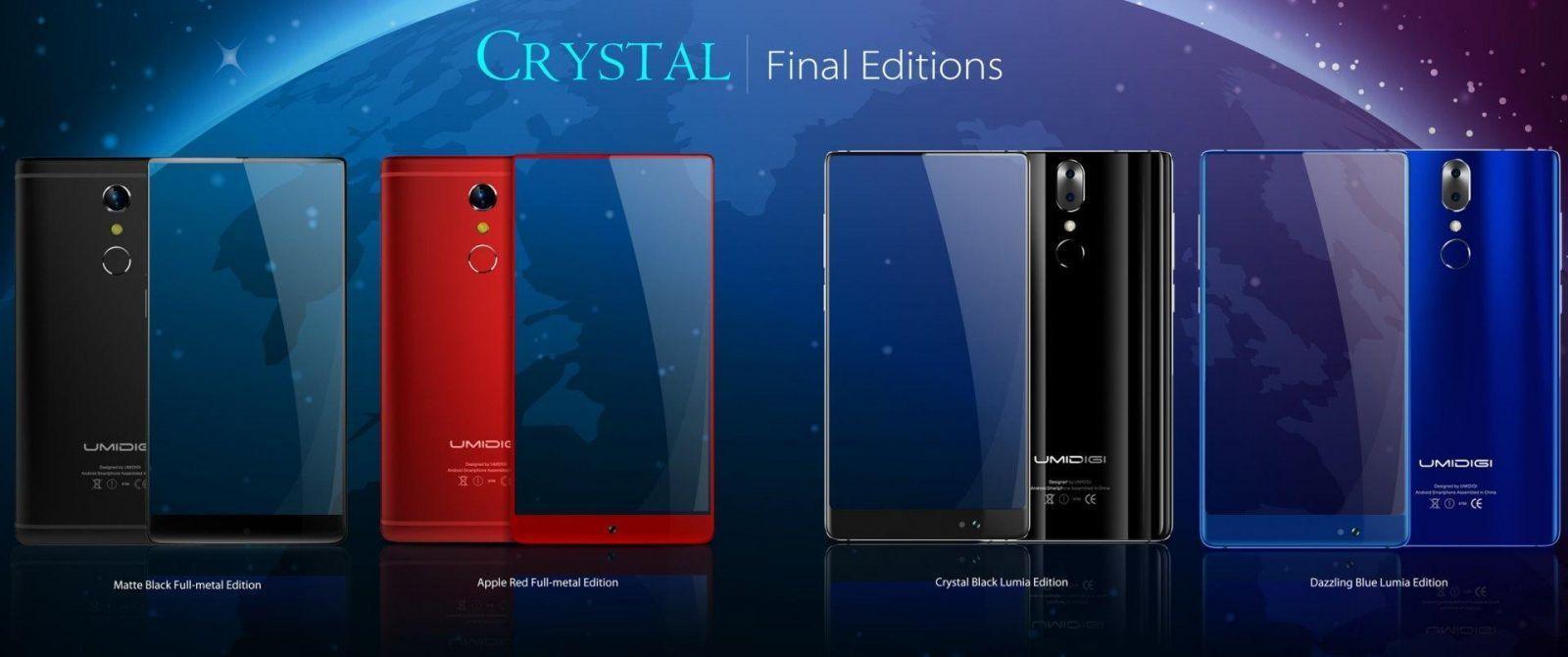 4 colors - У смартфона UMIDIGI Crystal Pro будет двойная камера Panasonic Lumix