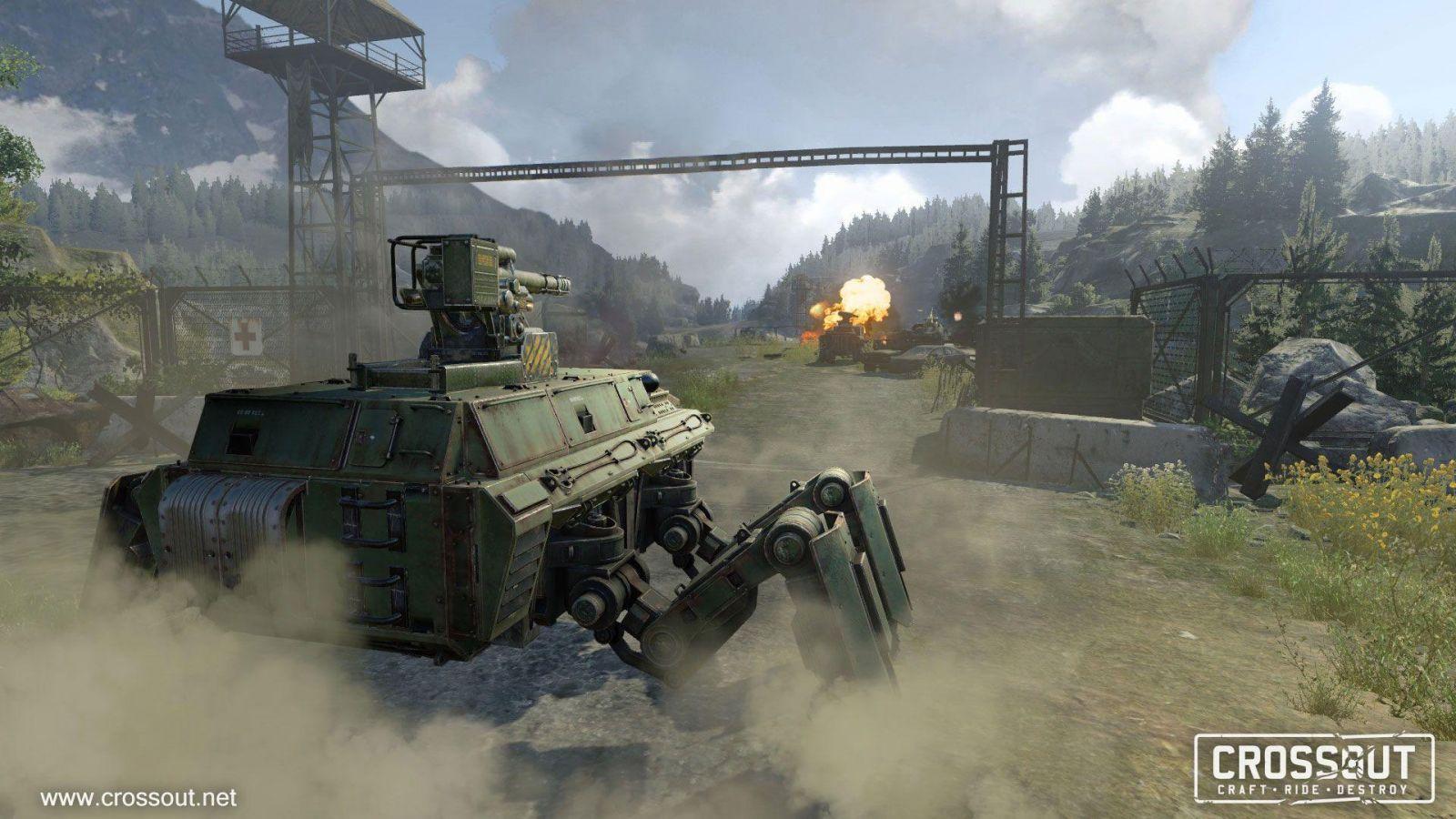 MMO-экшн Crossout вышел на все платформы (Crossout battle 9)