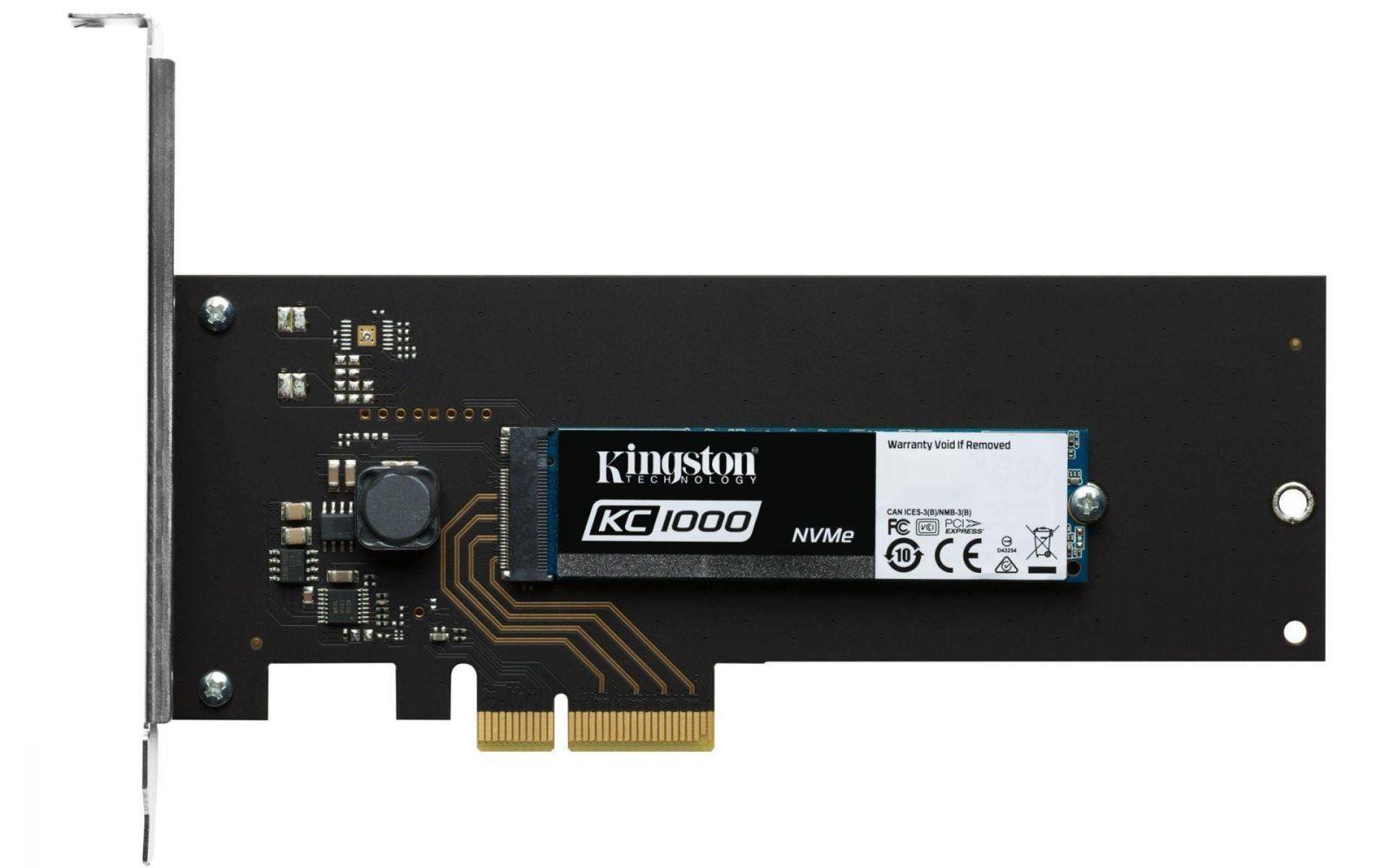 KC1000 SSD M.2  - Computex 2017. Kingston сделала накопитель KC1000 NVMe PCIe