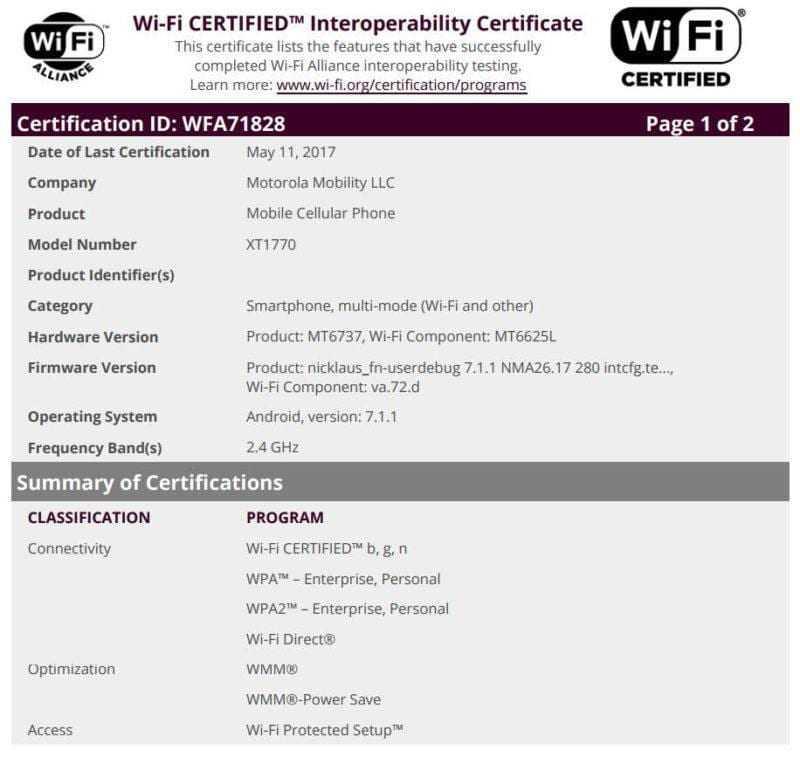 Сразу семь смартфонов Motorola проходят сертификацию одновременно (Moto MediaTek WiFi 1 800x757 1)