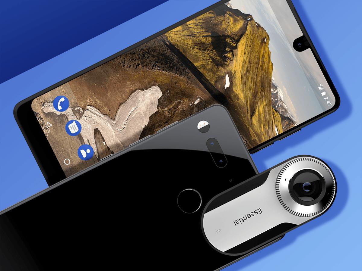 Создатель Android сделал свой смартфон Essential Phone (essentialphone fronton layered)