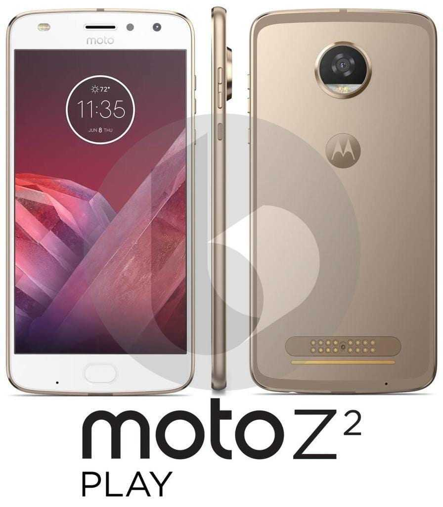 Moto Z2 Play будет неменее тонким посравнения сZplay