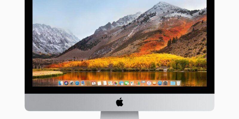 Apple анонсировала новую macOS High Sierra (mac sierra homescreen)