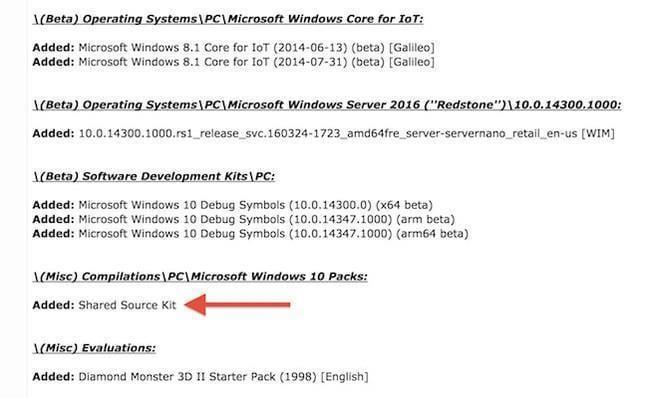 ms leak screenshot - В сеть попало 32 ТБ исходного кода Windows