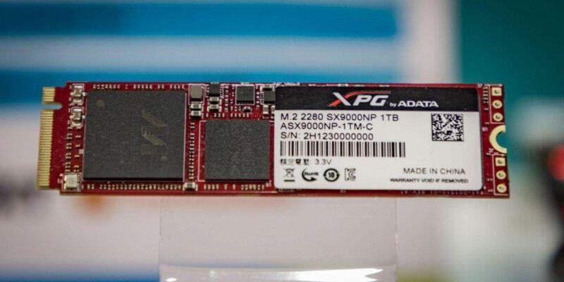 ADATA выпустила SSD c интерфейсом PCIe NVMe (121A0462)
