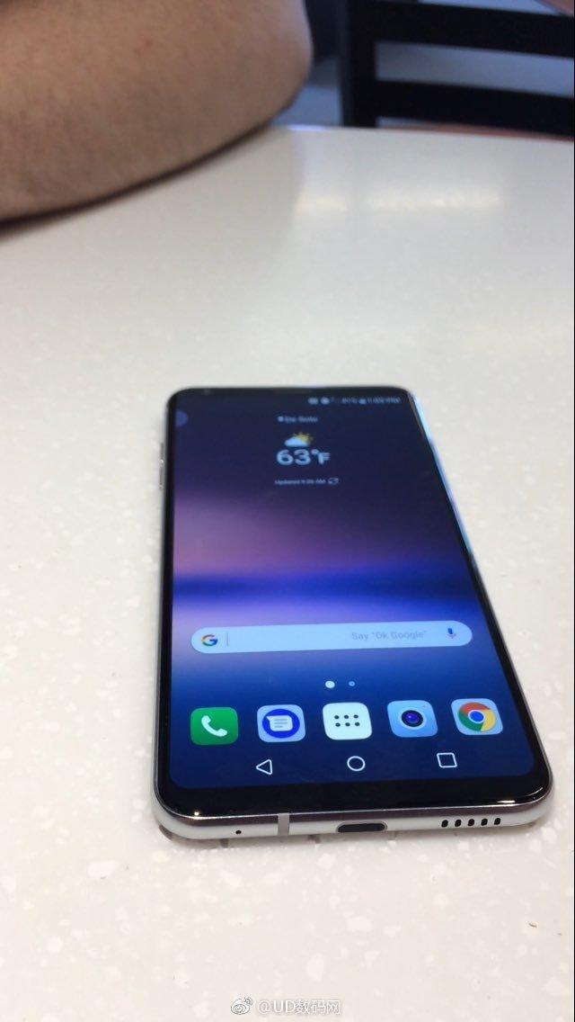 "В сети появилось ""живое"" фото нового LG V30 (LG V30 Leaked Live Image)"