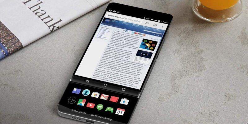 У смартфона LG V30 будет новый интерфейс (LG V30 slider evan blass leak 1)