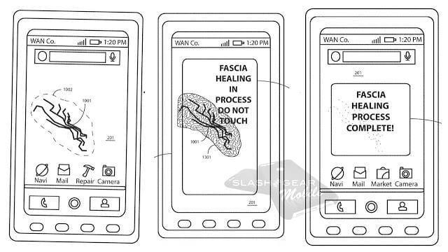 Motorola хочет запатентовать самовосстанавливающийся дисплей (healingprocess)
