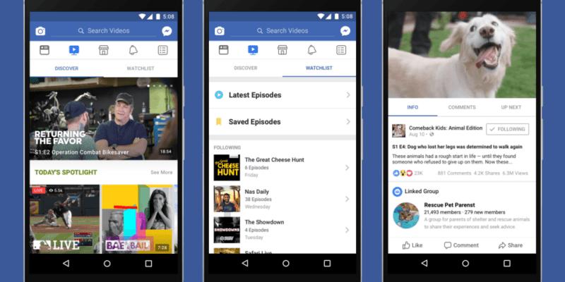 Facebook анонсировал видеоплатформу Watch (newsroom hero final blue)
