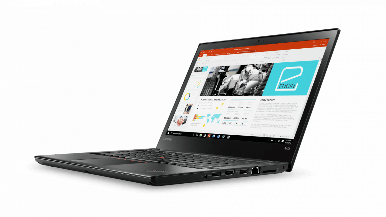 Lenovo выпустила ноутбуки ThinkPad на процессорах AMD PRO (02 Thinkpad A475 14inch Hero Shot Front facing left PPT)