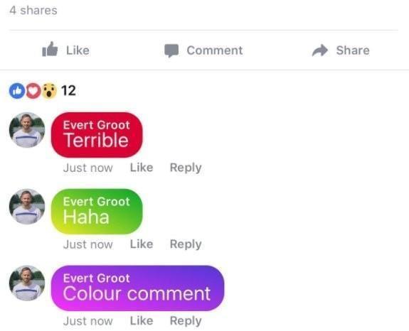 Facebook тестирует комментарии с цветным фоном (6c8866d154e92f)