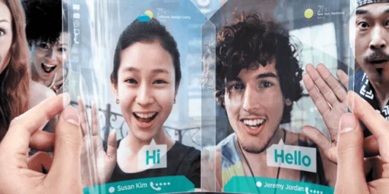 Смартфон со сгибающимся дисплеем от Samsung должен поступить в продажу в 2018 году (foldable ad)