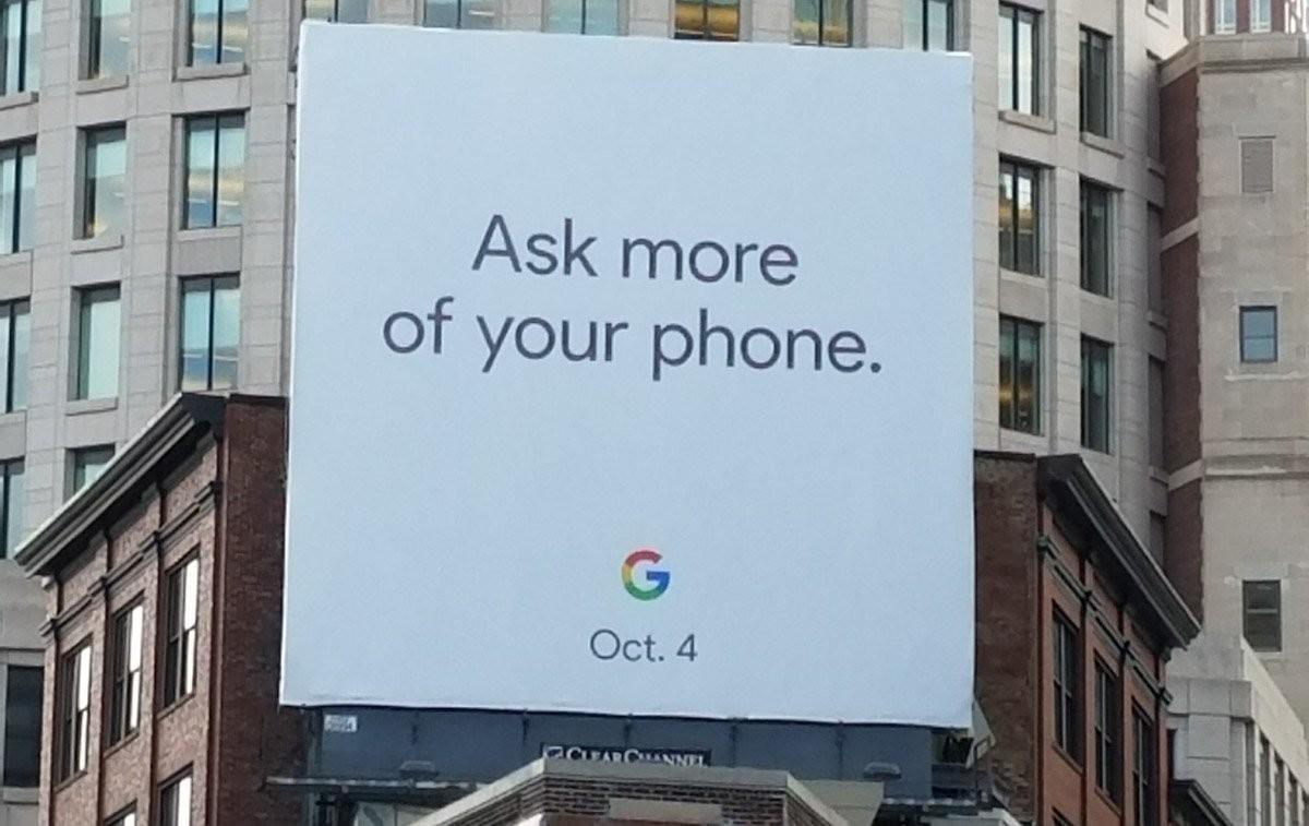 Google Pixel 2 покажут уже в октябре (google pixel 2 billboard)