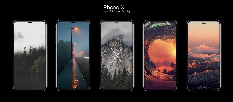 Новый юбилейный iPhone могут назвать iPhone X (iPhone 8 Full Vision Display iFanr mockup 001)