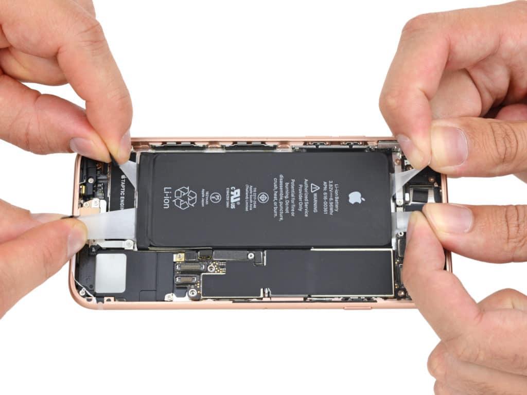 Разбор iPhone 8 (iPone 8 battery 2)