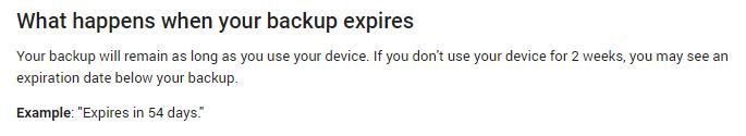 Google удалит ваши бэкапы через 2 месяца неактивности устройства (image)