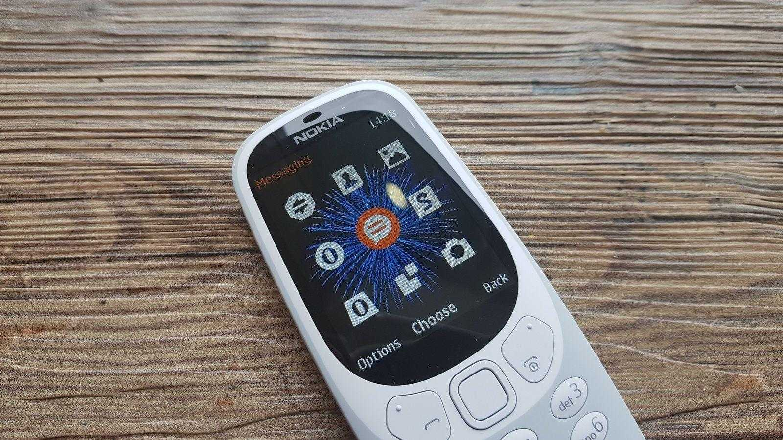 Nokia 3310 получит 3G (nokia 3310 user interface)
