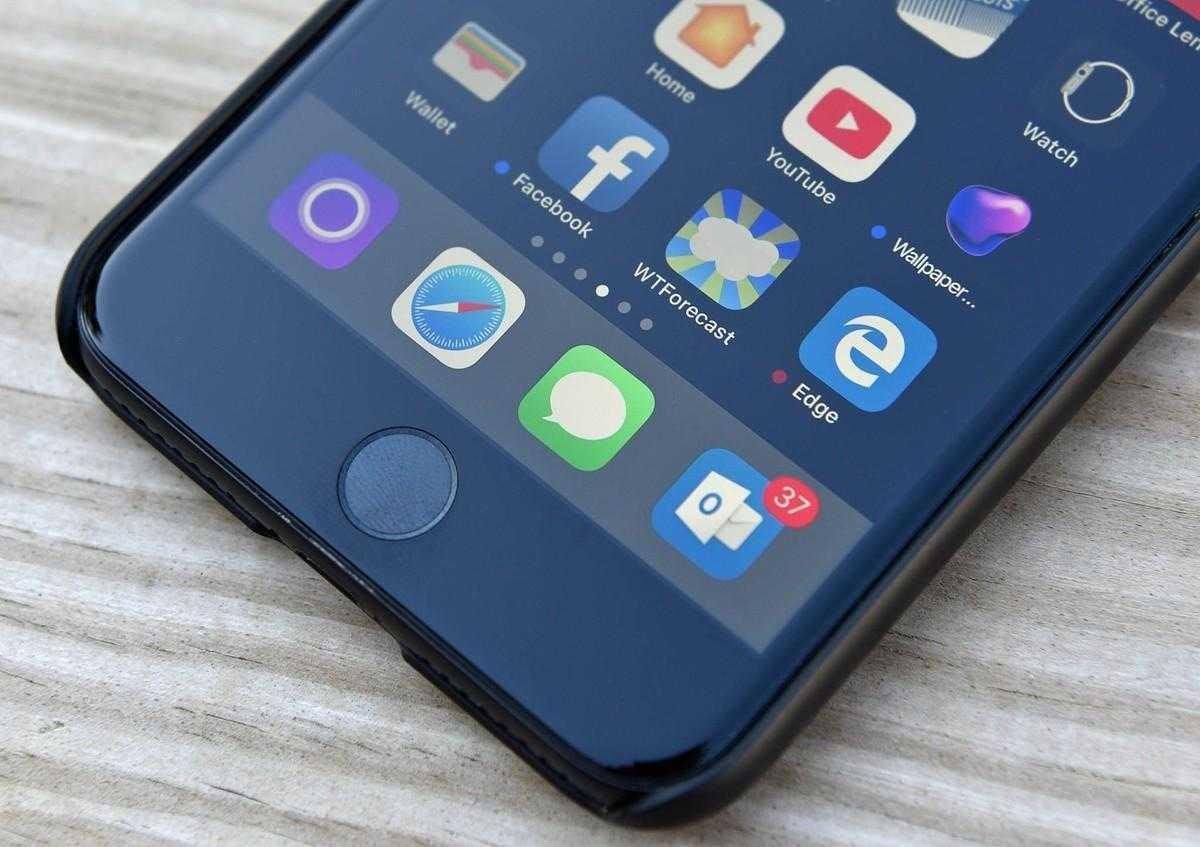 IPhone на IOS 11 собирает интимные фото пользователей в отдельную папку (Microsoft Edge logo iphone 0)