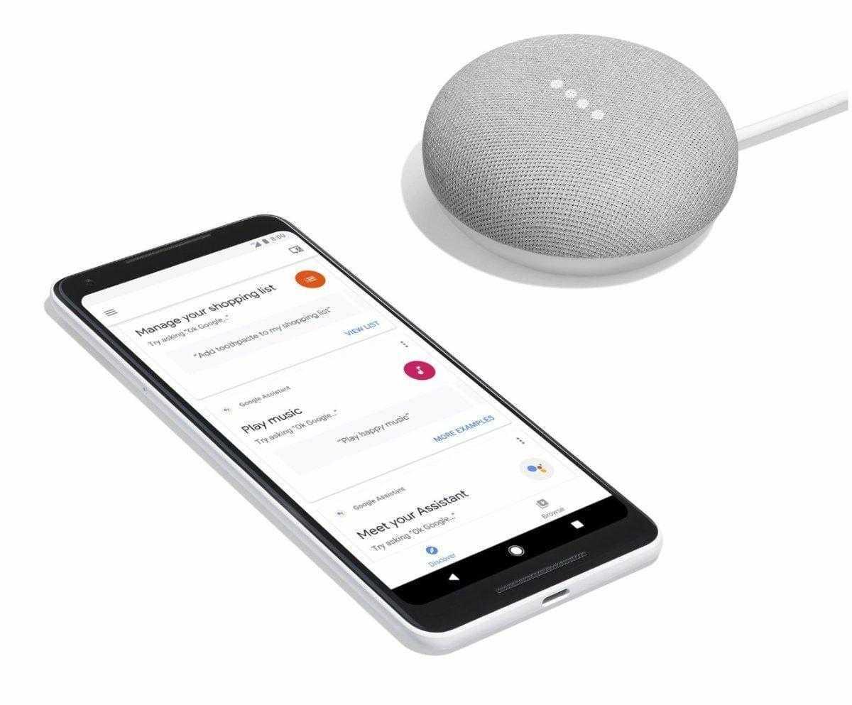 Мини-ассистент Google Home mini (google home mini pixel 2)