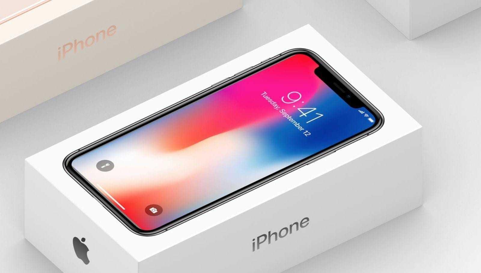 iPhone X начал продаваться в России (iphone x packaging)