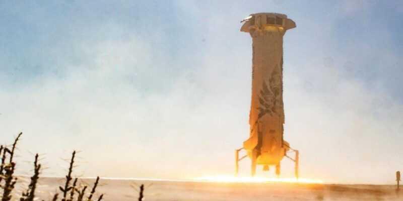 Blue Origin испытывает туристическую ракету (Blue Origin New Shepard Mission 7 Booster Landing 3)
