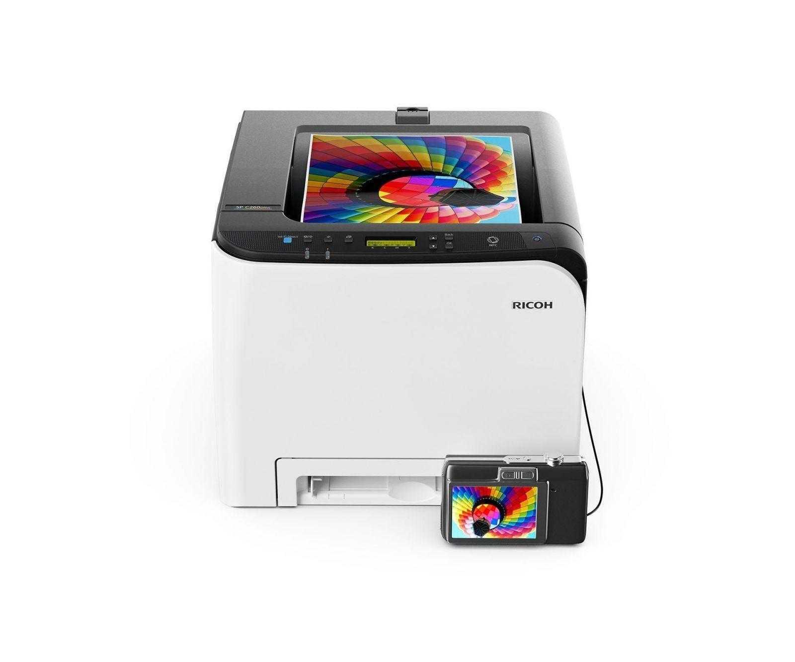 Новые цветные лазерные принтеры и МФУ Ricoh для бизнеса уже в России (Ricoh SP C260DNw)
