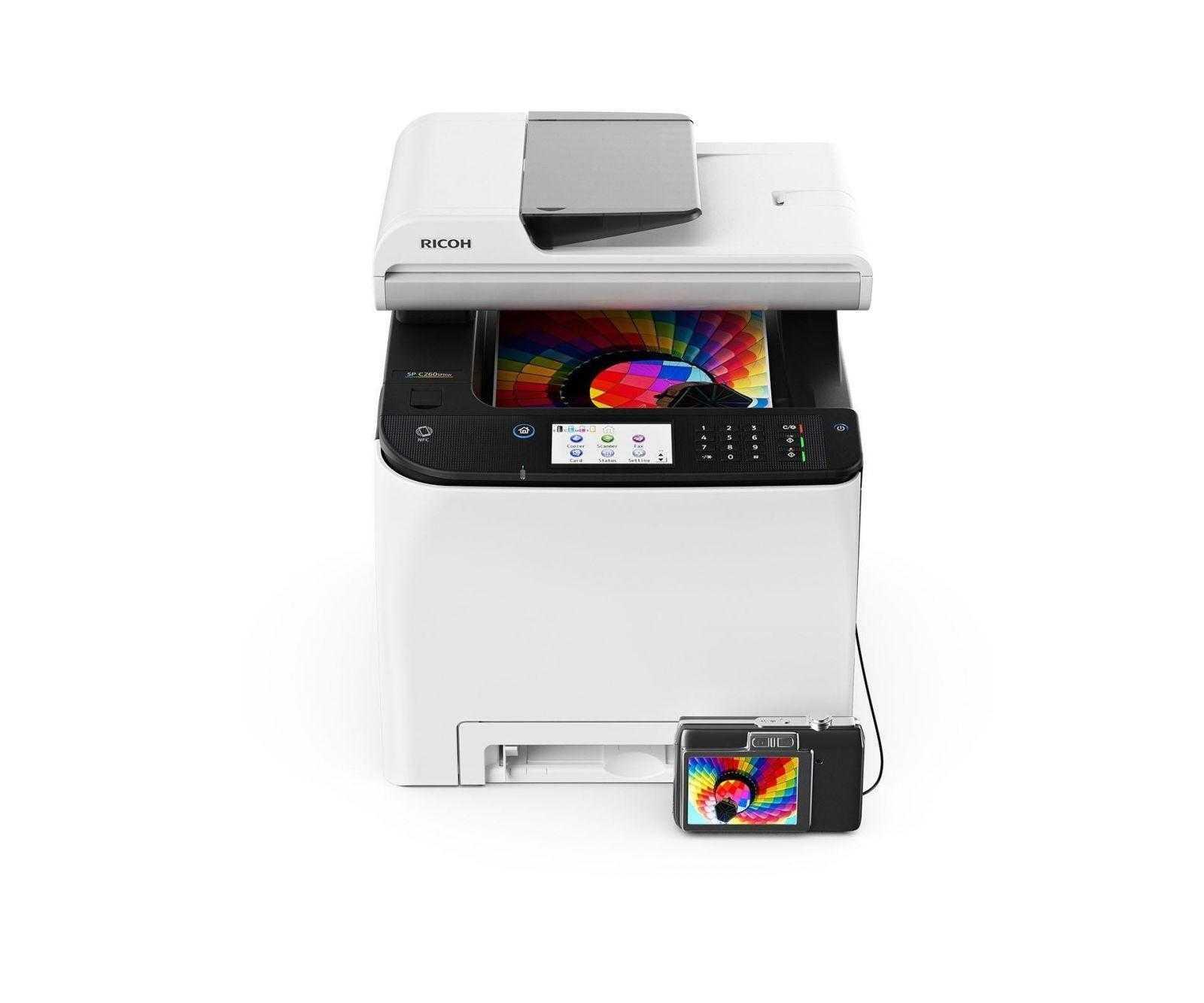 Новые цветные лазерные принтеры и МФУ Ricoh для бизнеса уже в России (Ricoh SP C260SFNw)