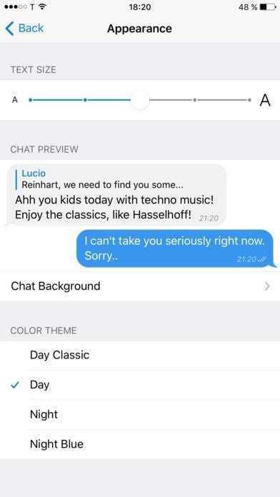 Telegram выпустил альтернативный клиент для iOS (Telegram 4)