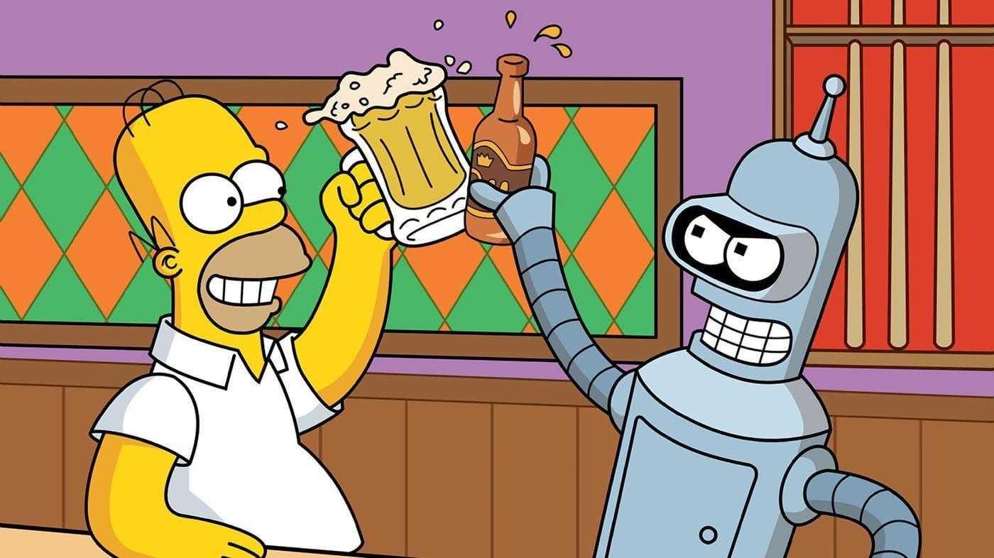 В Carlsberg варить пиво будет искусственный интеллект (simpsons wallpaper the simpsons wallpaper futurama homer bender beer bar 1 wide 7dfa6896abcce48a8e851455b3edcf479e38489e)