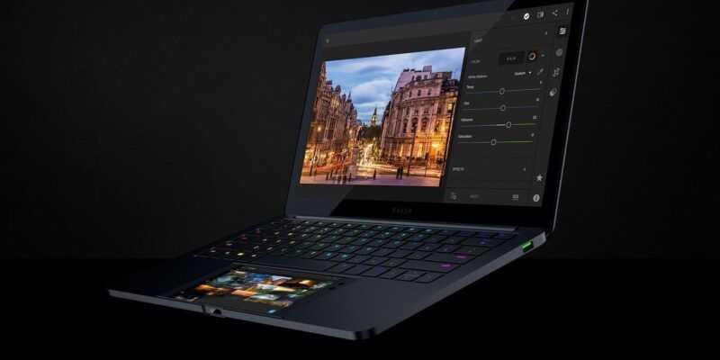 CES 2018: Project Linda превратит Razer Phone в привлекательный ноутбук (projectlinda 2018 dual displays)