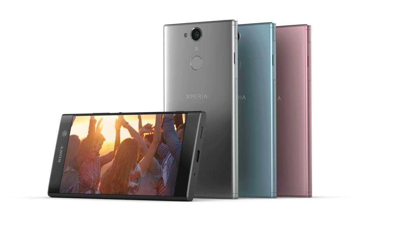CES 2018: Sony представила три недорогих смартфона (sony xperia xa2 08)