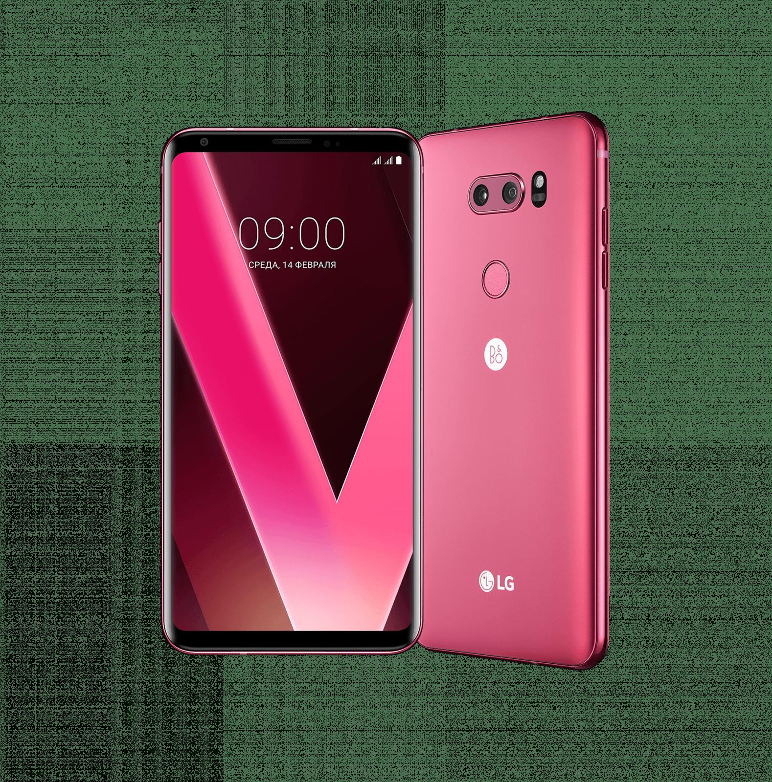 Малиновый LG V30+ вышел в России (LG V30 Pair Shot 2 RR on shot)
