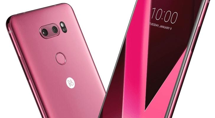 Малиновый LG V30+ вышел в России (nexus2cee rose v30 hero)