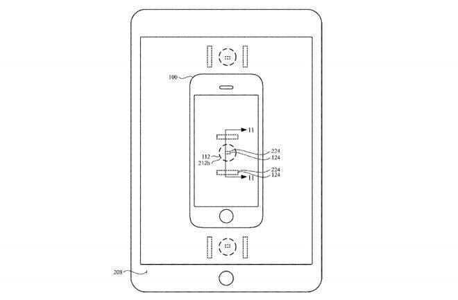 Apple запатентовала новый способ зарядки своих устройств (26911 39082 apple patent application wireless charging between devices00001 l)