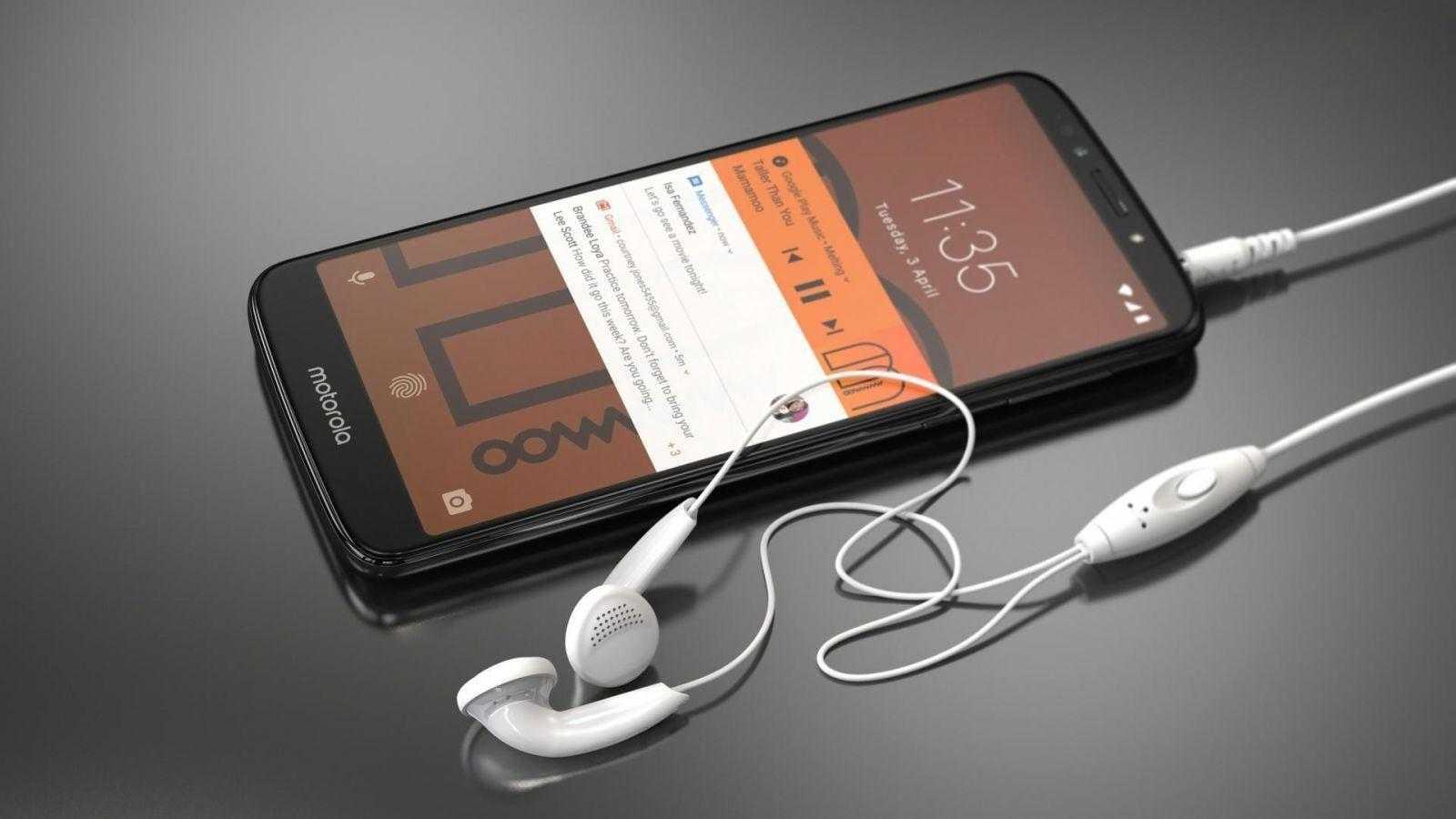 Motorola стартовала продажи смартфонов moto G6, E5 и E5 Plus в России (MotoE5 Plus Earphone A Flash Gray)