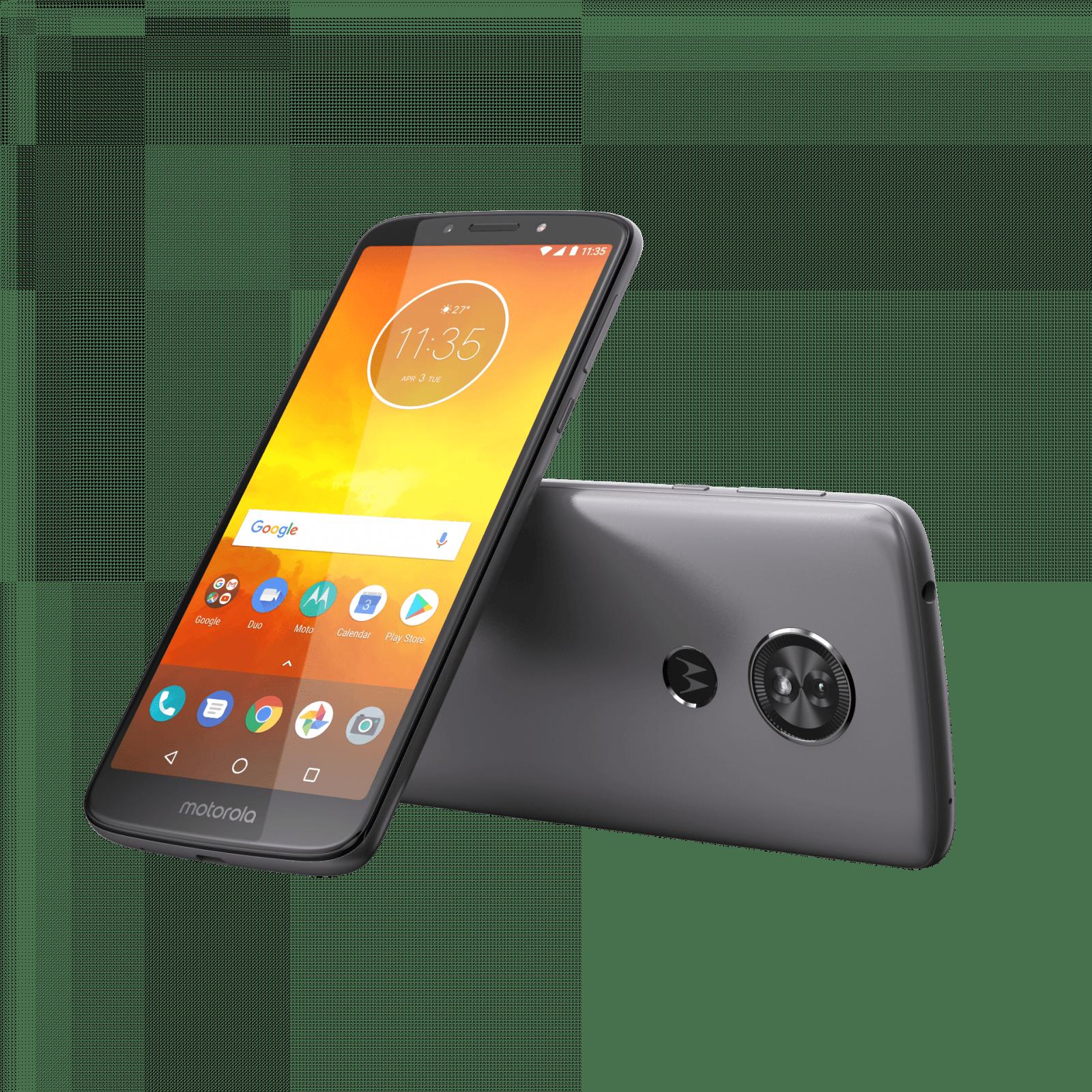 Motorola стартовала продажи смартфонов moto G6, E5 и E5 Plus в России (MotoE5 ROW FlashGray Laydown Combo)