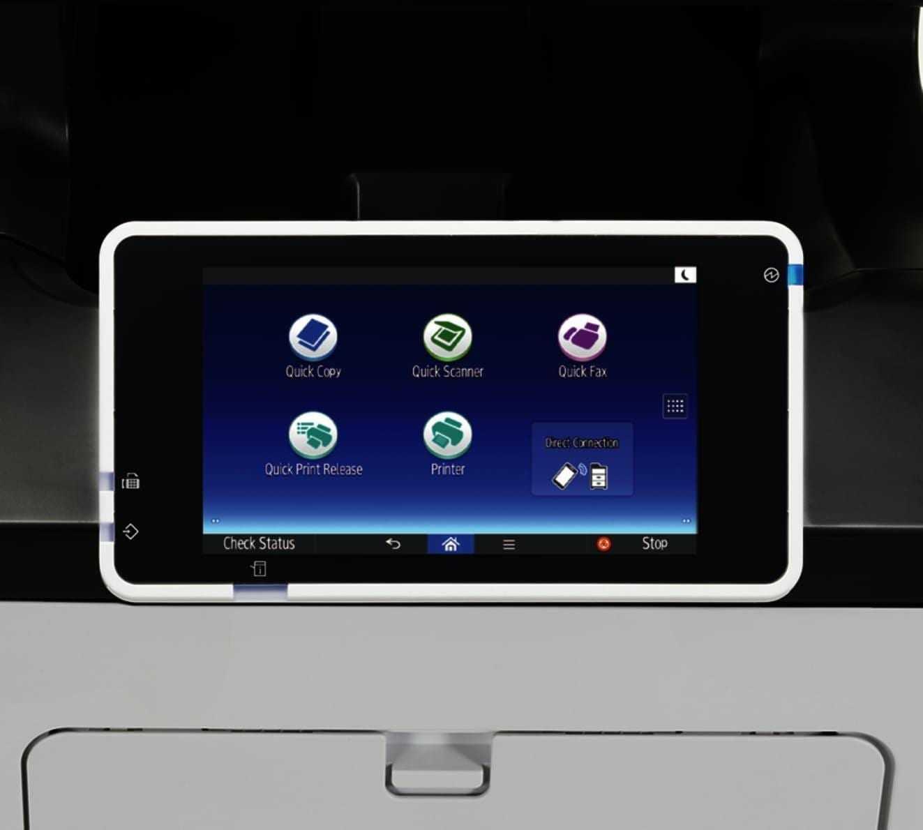 Ricoh выпустила новые быстрые устройства для малых офисов (Sensornaya panel MFU)