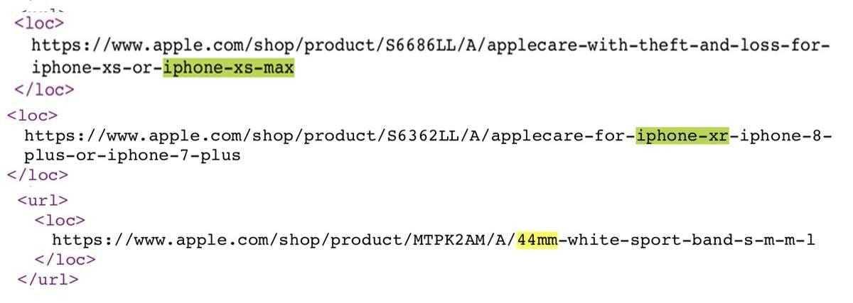 Apple рассекретила названия iPhone XS, XS Max и XR на своем сайте (KOD)