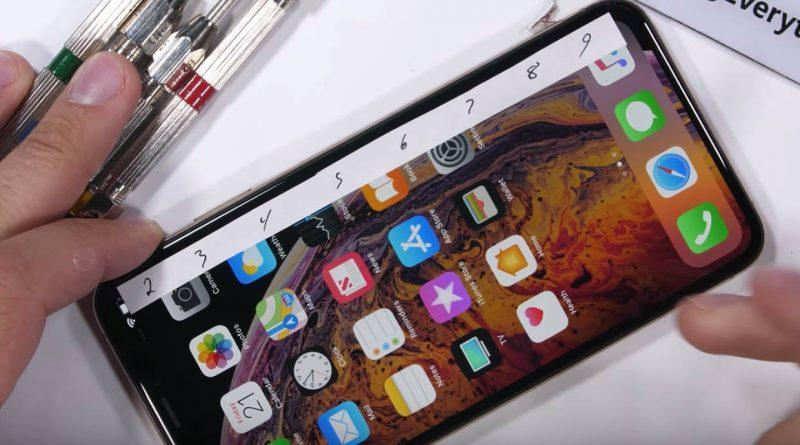 Новый iPhone XS Max испытали в краш-тесте (iphone xs max konstrukcja)