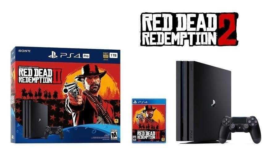 Sony выпустит бандлы PS4 c Red Dead Redemption 2 (red dead redemption 2 ps4 pro bundle revealed)