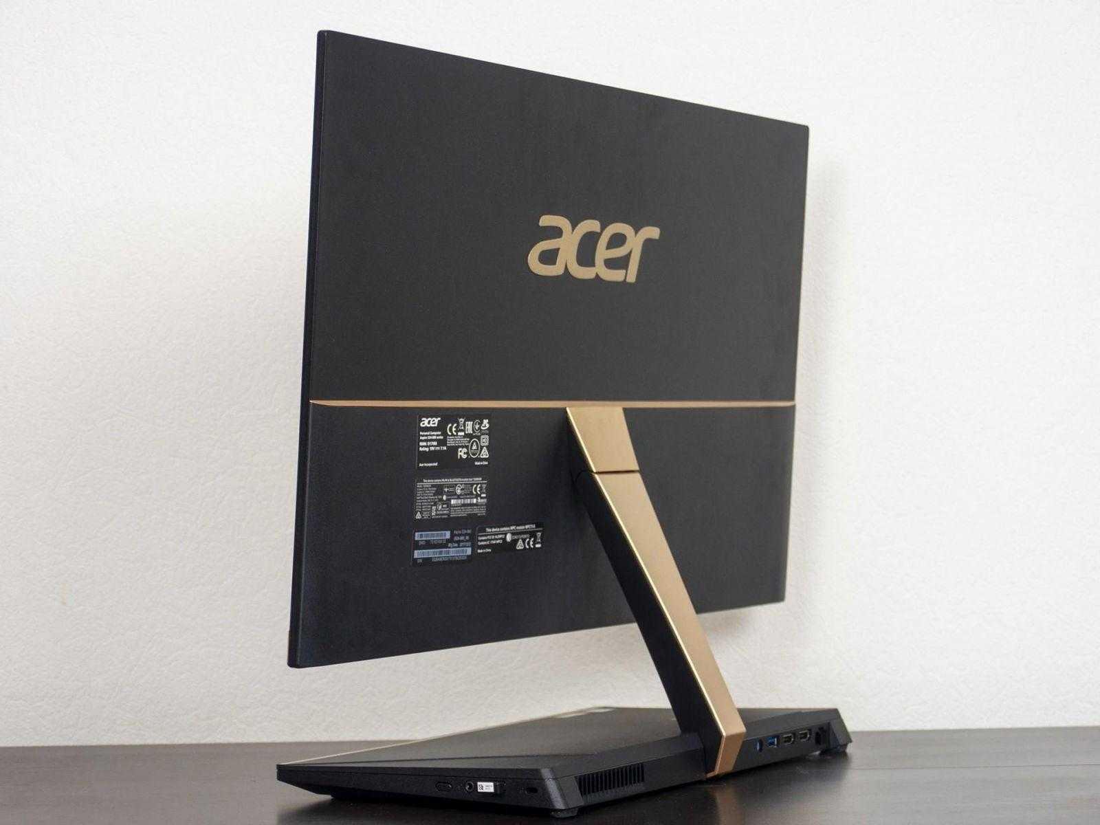 Вид сзади на Acer Aspire S24-880