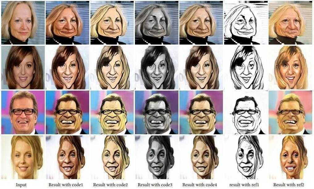 Нейросеть Microsoft научилась создавать карикатуры (caricature1)