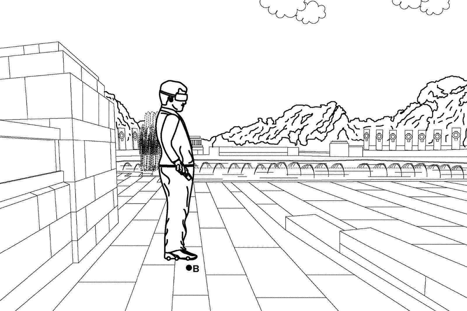 Google запатентовала роликовые коньки для ходьбы в VR (dims 3)