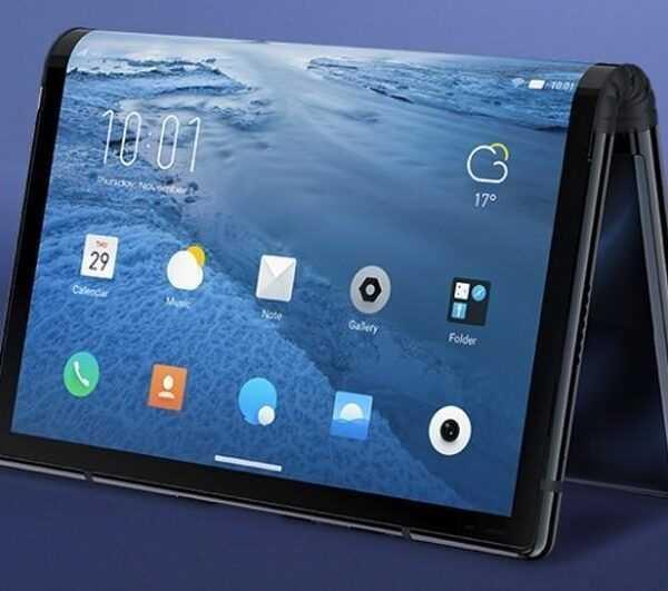 Royole представила первый в мире складной смартфон (flex1)