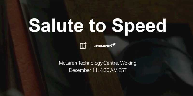 OnePlus представит McLaren 6T в декабре (oneplus 6t mclaren 6t)