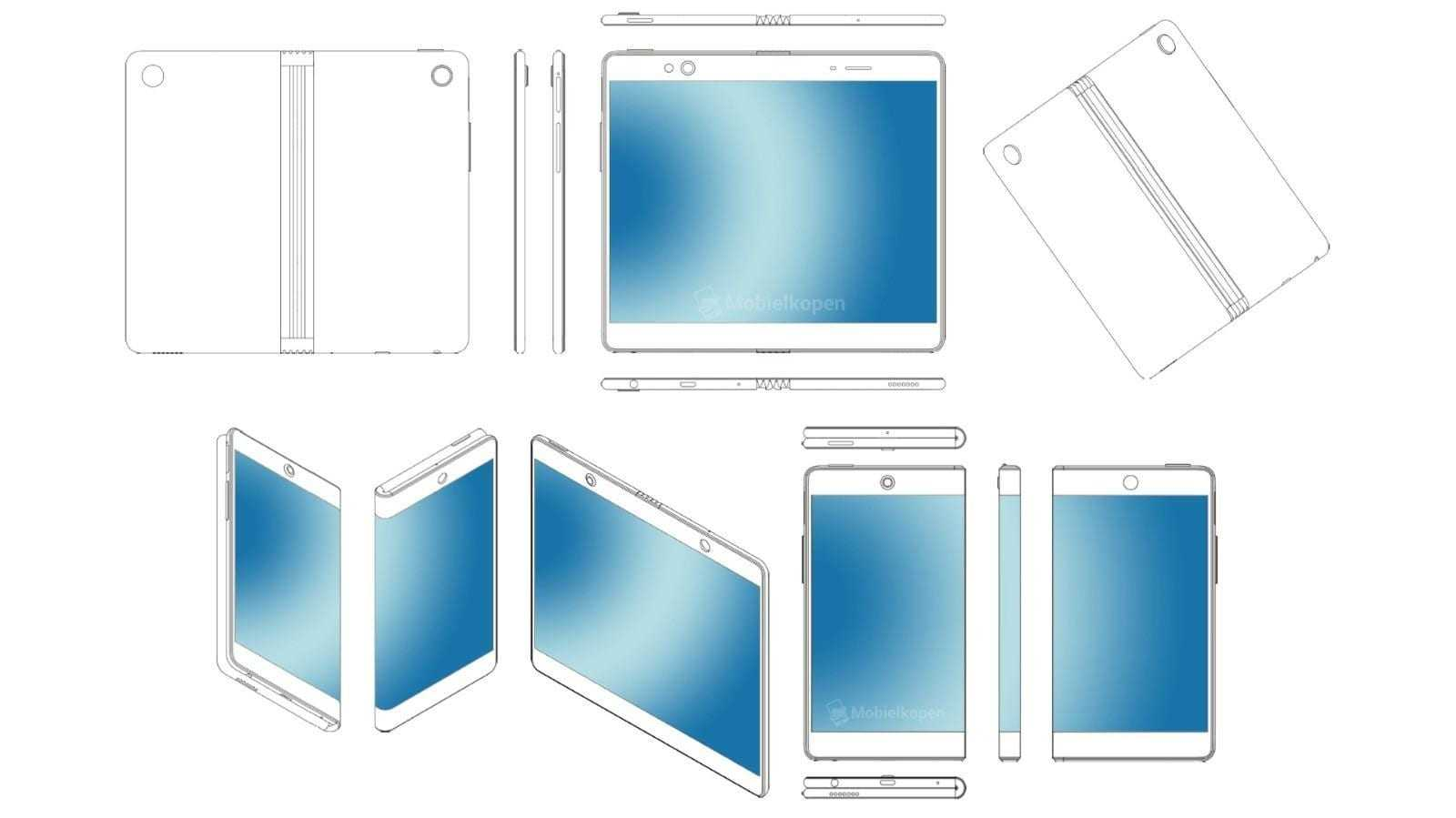 Oppo представит гибкий смартфон в феврале следующего года (oppo foldable smartphone patent 3)